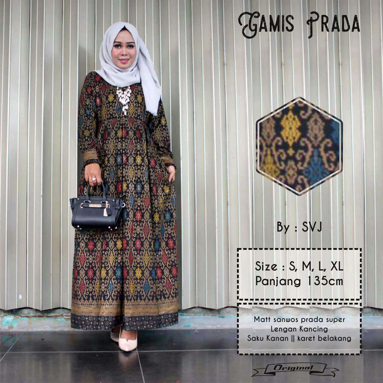 Baju Batik Gamis Modern Prada Yokyescom